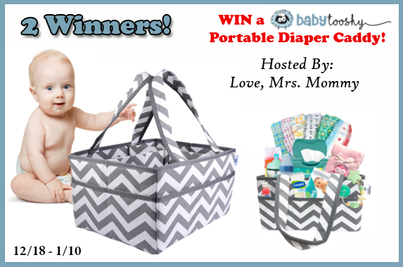 2 Winner Baby Tooshy Large Capacity Diaper Caddy Organizer Giveaway! 1/10 @baby_tooshy