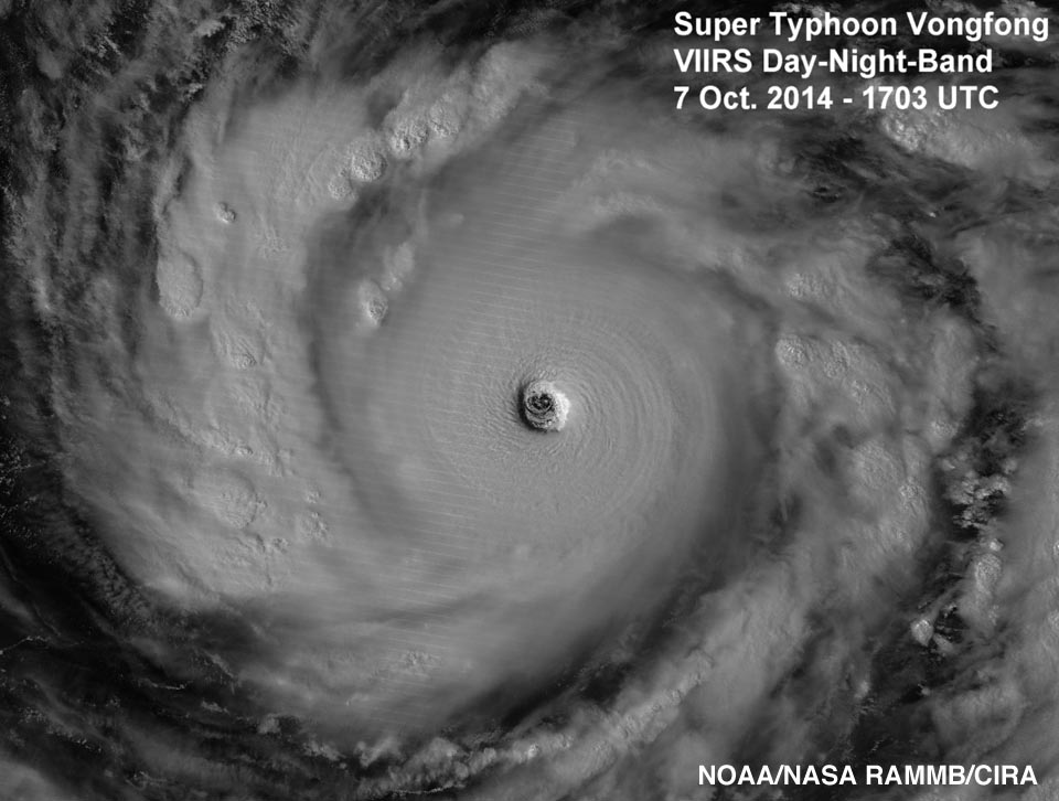 Super Typhoon Vongfong, was a Category 5 storm in Japan