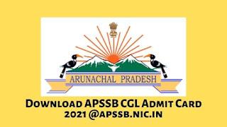 Download APSSB CGL Admit Card 2021 @apssb.nic.in