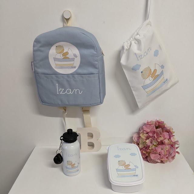vuelta al cole botellas y mochilas personalizadas