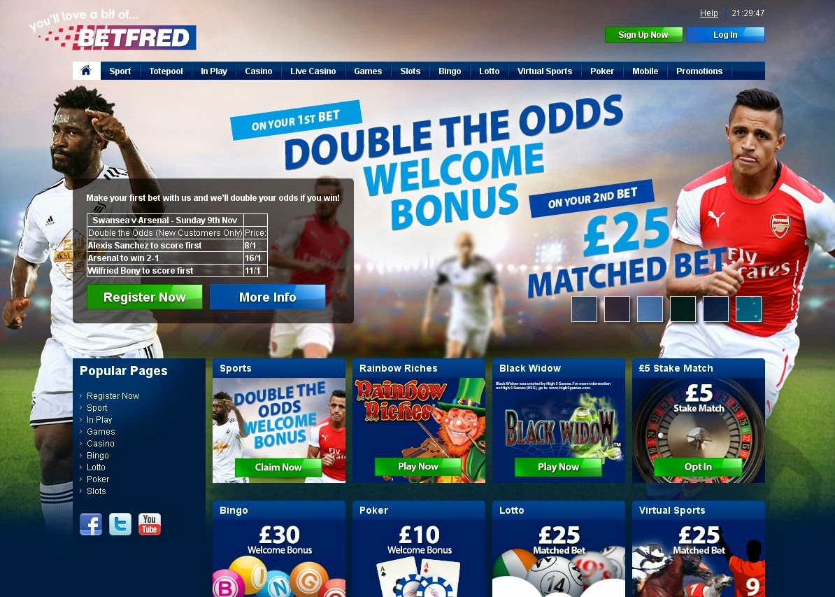 Betfred Screen