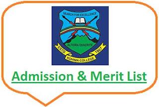 Kohima College Merit List