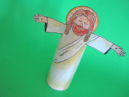 jesus craft ideas he died for my grins used toilet paper roll jesus 2246