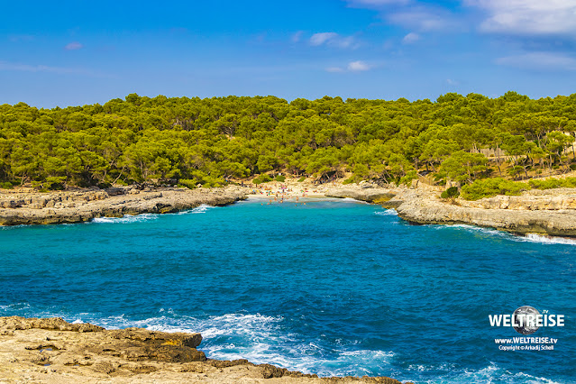 Calo des Borgit beach Mallorca WELTREISE
