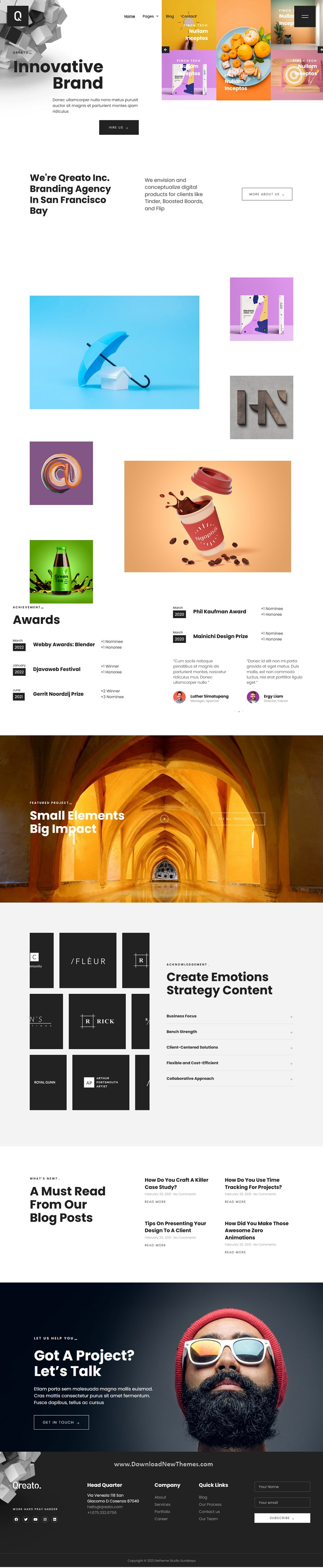 Modern Branding & Creative Agency Elementor Kit