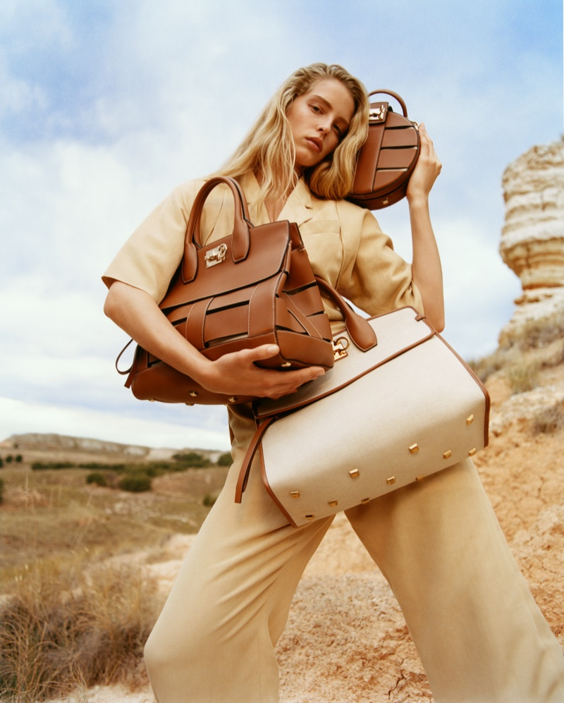 Abby Champion stars in Salvatore Ferragamo spring-summer 2020 campaign