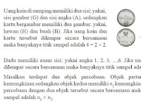 Definisi, Penjelasan, dan Contoh Soal, Ruang dan Sampel