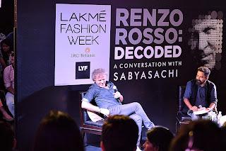 renzo rosso, sabyasachi, lakme fashion week