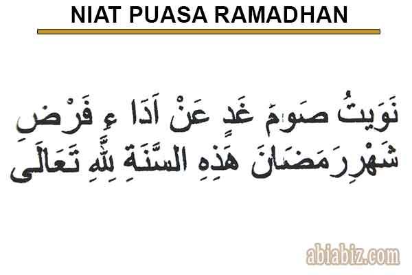 Bacaan Doa Niat Dan Buka Puasa Ramadhan Beserta Artinya Abiabiz