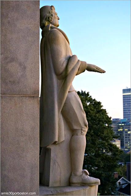 Escultura de Roger Williams en Prospect Terrace Park, Providence
