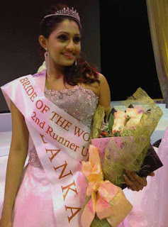 Aruni Rajapaksha 3rd place at Bride of the World 2012 pageant