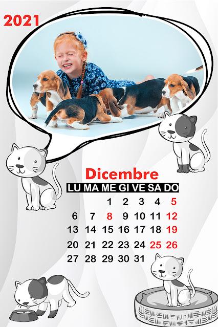 Calendario cani mensile