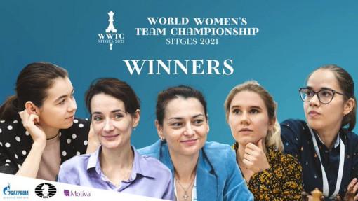 Les reines russes des échecs battent l'Inde pour remporter le championnat du monde féminin par équipes
