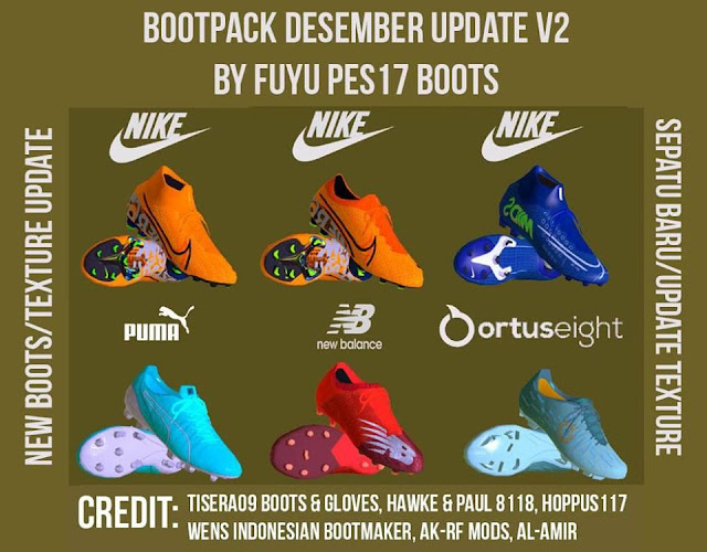 PES 2017 December Boots Pack by Fuyu