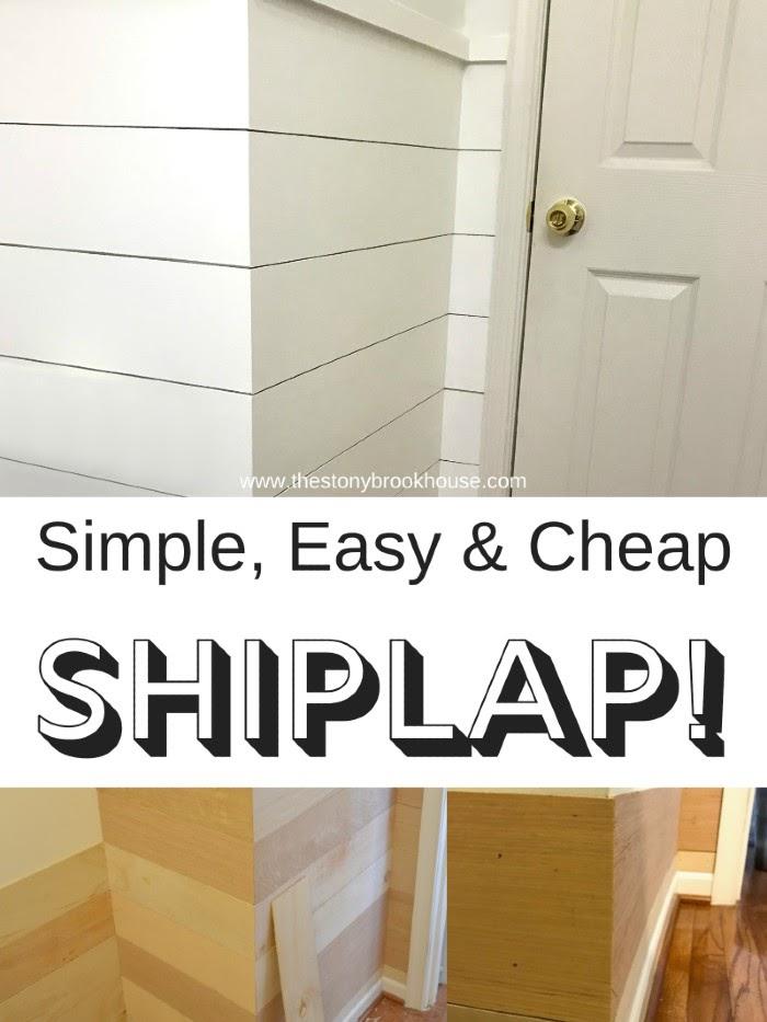 Simple, Easy & Cheap Shiplap
