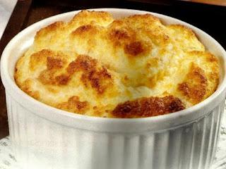 receita soufle com queijo