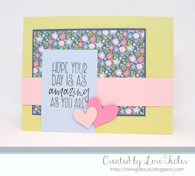 As Amazing as You Are card-designed by Lori Tecler/Inking Aloud-stamps and dies from Verve Stamps