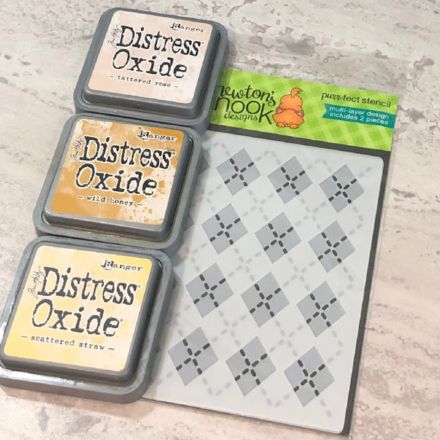 Savor Life's Small Moments Card by October Guest Designer Allison Arbour   Autumn Mice Stamp Set and Argyle Stencil Set Stamp Set by Newton's Nook Designs #newtonsnook #handmade
