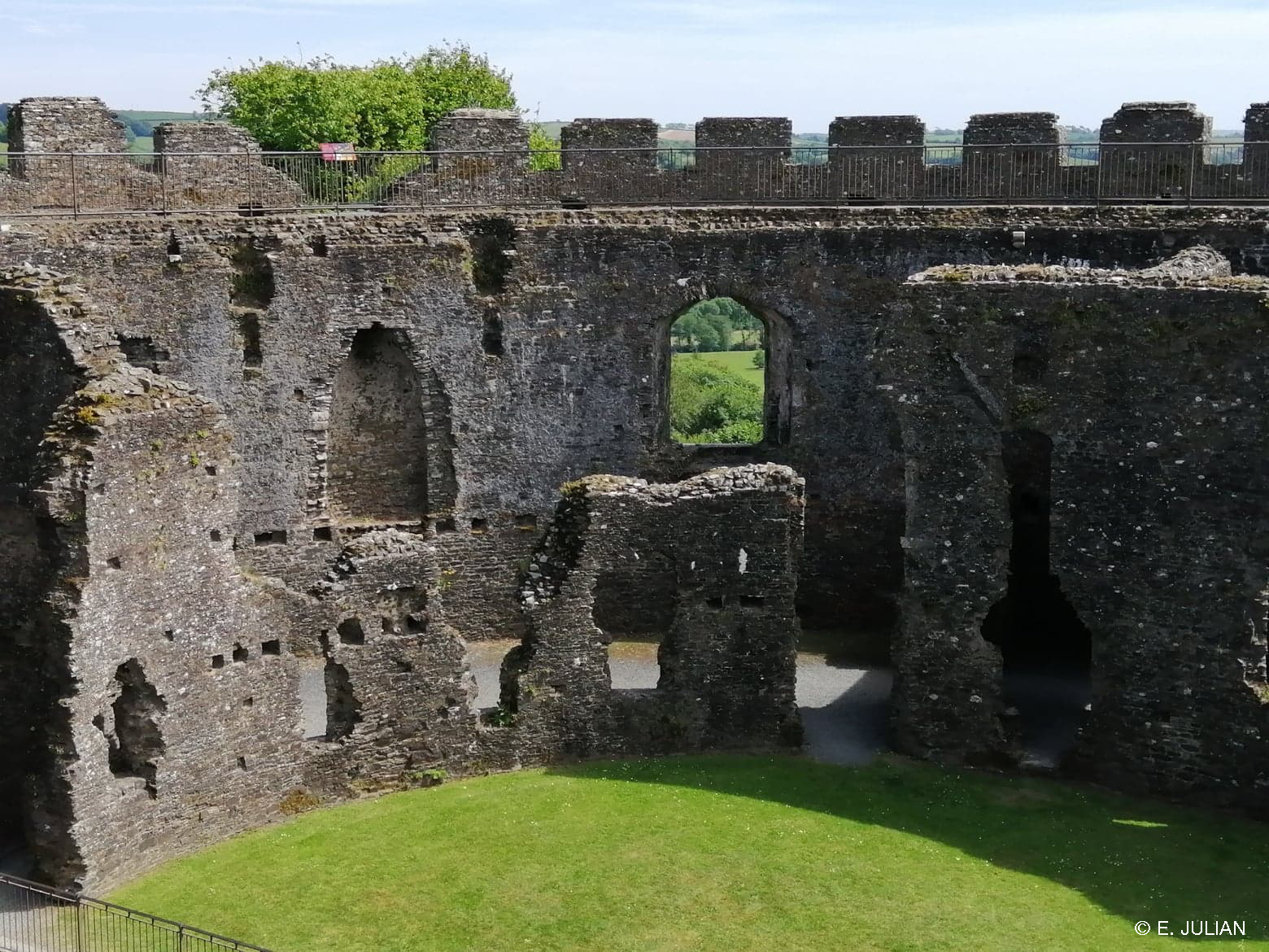 The English Heritage looked after Restormel Castle