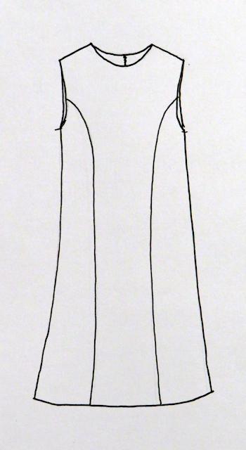Dibujo plano de vestido acabado corte princesa tallas grandes