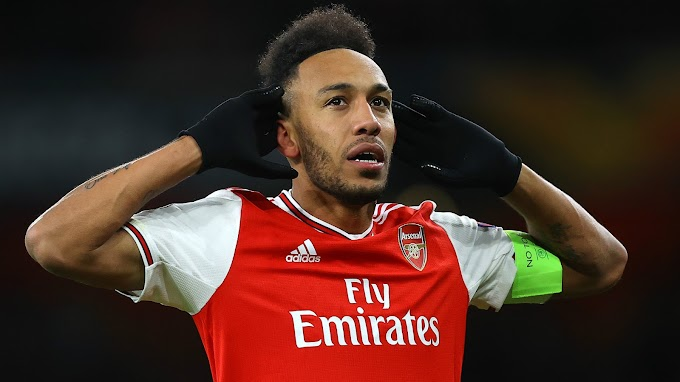 Arsenal recognise Aubameyang as their best player for 2019/2020 season