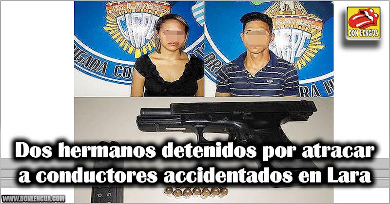 Dos hermanos detenidos por atracar a conductores accidentados en Lara