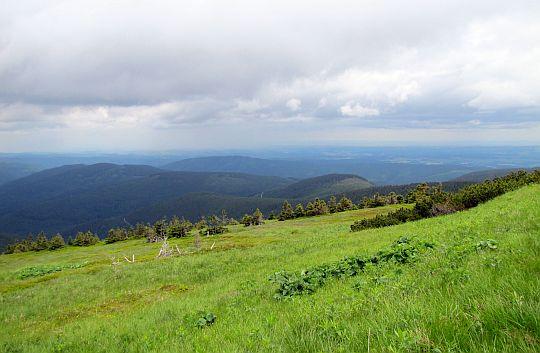 Widok na północny wschód z Pradziada.