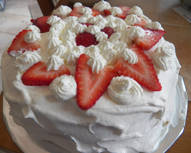 Danish Lagkage with Strawberries