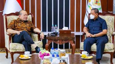 Terima Audiensi Bupati Wajo, Ketua DPD Bahas Tindak Lanjut Revitalisasi Masjid Tosora