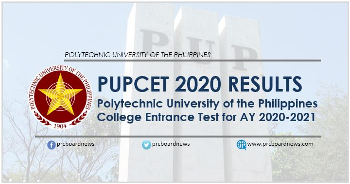 PUPCET Results 2020: Full list of passers