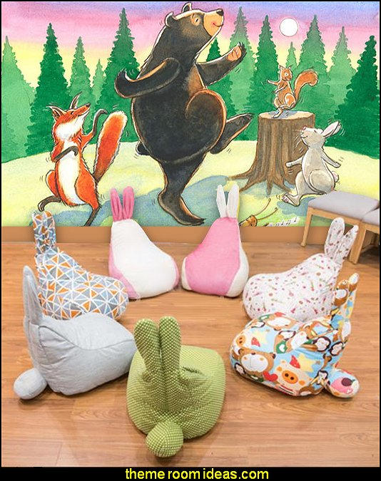 rabbit shaped kids seating fun seating beanbags kids room furnishings