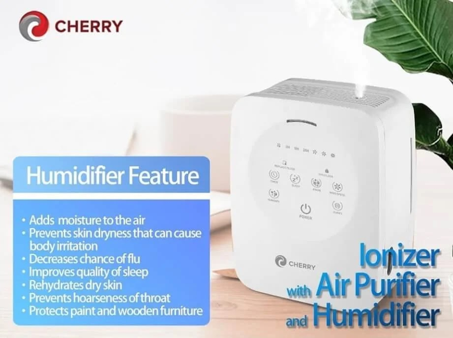 Cherry Ionizer with Air Purifier and Humidifier is Priced for Only Php4,000