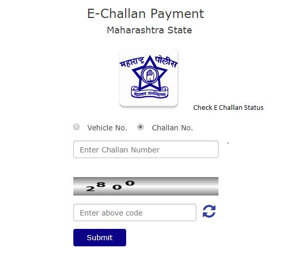 Pune Traffic Police e Challan Status