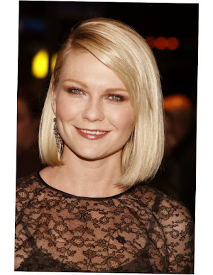 Hairstyles For Round Faces Over 40 Blonde Straight Photo