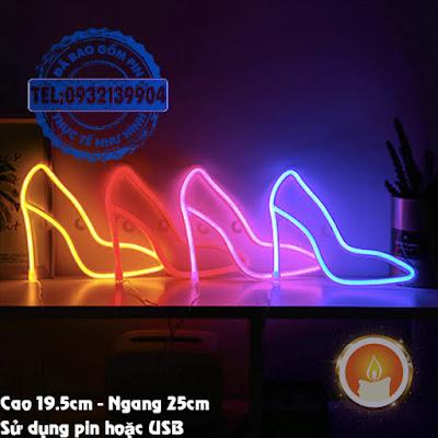Đèn led neon giày cao gót