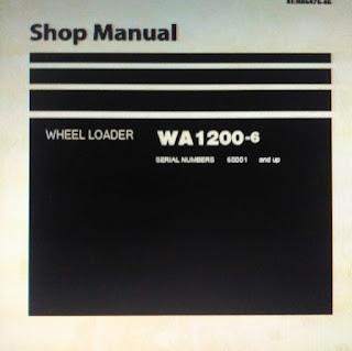 Wheel loader wa1200-6 service repair manual