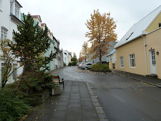 Street in Thingholt. Photo by Michael Ridpath, author of the Magnus series of crime novels