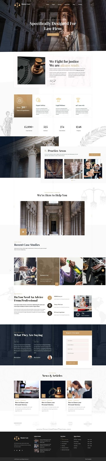 Attorney OnePage PSD Template
