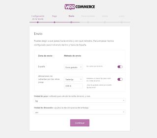 Configurar costos de envío