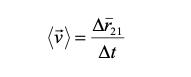 Kecepatan rata-rata persamaan