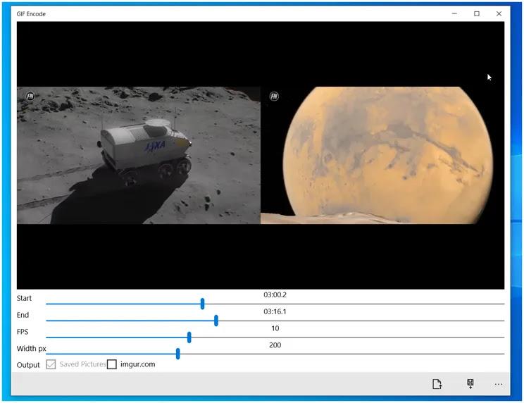 GIF Encode :  Επιλέξτε και μετατρέψτε τμήματα ενός βίντεο σε Gif Animation