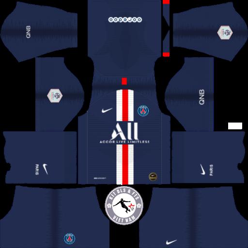 Kits Paris Saint-Germain 2019 - 2020 Dream League Soccer 2019 & First Touch Soccer