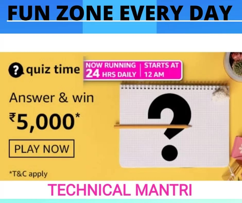 Amazon quiz answers today for 18th March 2021: Win 5000