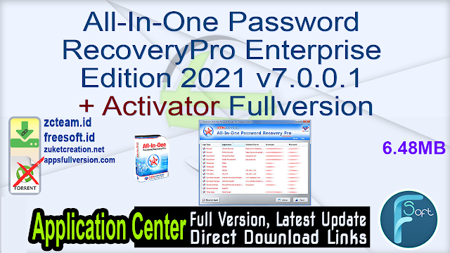 All-In-One Password Recovery Pro Enterprise Edition 2021 v7.0.0.1 + Activator Fullversion