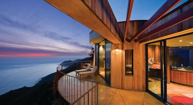 Hotéis no topo da montanha em Big Sur