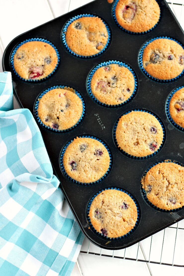 Blackberry and Raspberry Muffins