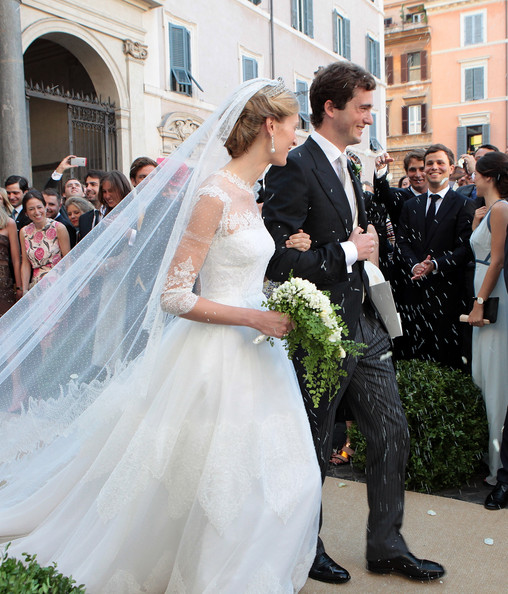 Wedding of Prince Amedeo of Belgium and Elisabetta Maria Rosboch Von Wolkenstein at Basilica Santa Maria in Trastevere in Rome, Italy