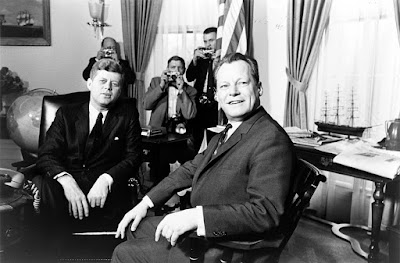 John.F.Kennedy meeting with Willy Brandt March 13 1961