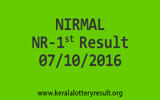 NIRMAL NR 1 Lottery Results 7-10-2016