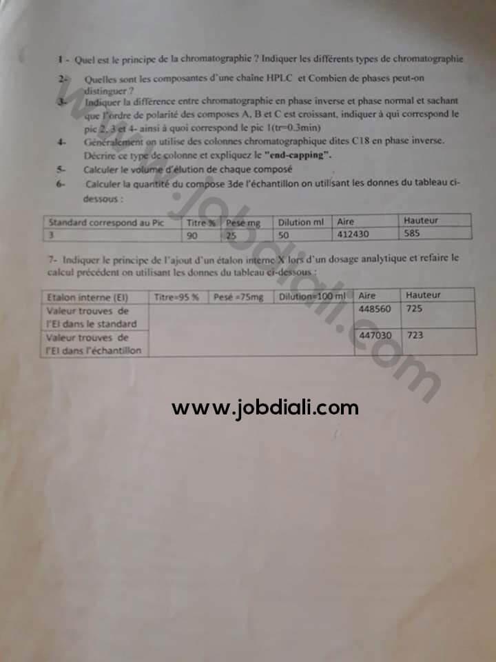 Exemple Concours de Recrutement des Administrateurs 2015 - ONSSA